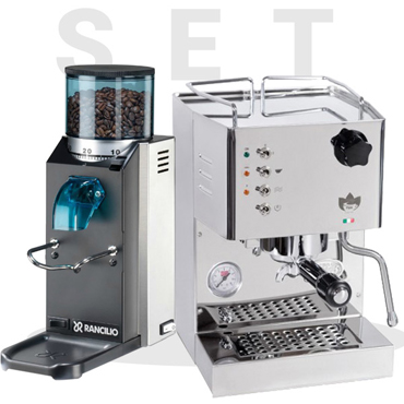 Set Quick Mill Model Pippa 04100 and Rancilio Rocky SD