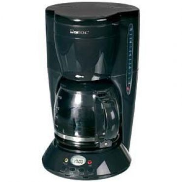 Clatronic KA 2888 Coffee machine long, 10-12 cups, timer, glass mug, Color: Black