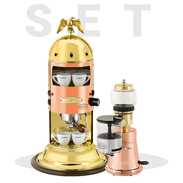 Elektra special set offer: Miniverticale Copper and Brass A1 and Grinder Ms