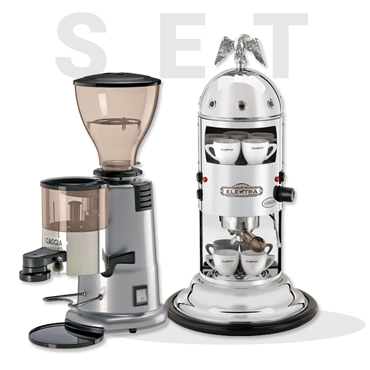 Elektra A1C Mini Verticale Chrome AND GAGGIA MD58 Coffee Grinder
