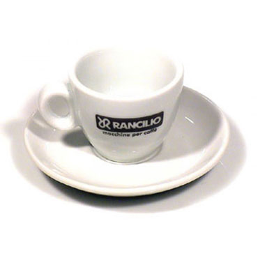 Rancilio Espresso Cups and Saucers - set of 6