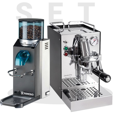 Set Quick Mill Model Carola 0960 and Rancilio Rocky SD