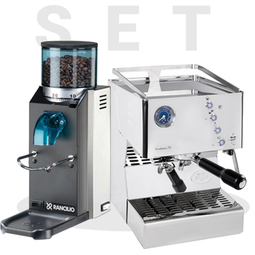 Set Quick Mill Evolution 70 3140 and Rancilio Rocky SD