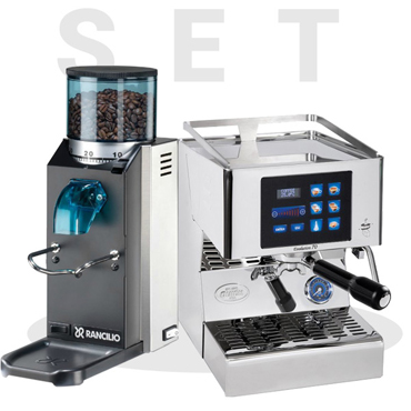 Set Quick Mill Model Evolution 70 3230 and Rancilio Rocky SD