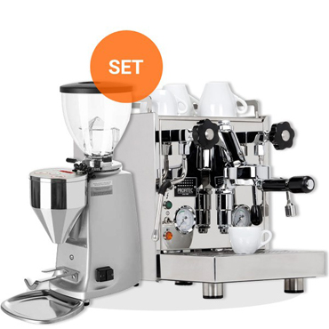 PROFITEC FILTER HOLDER ESPRESSO MACHINE PRO 500 and MAZZER MINI ELECTRONICO TYPE A