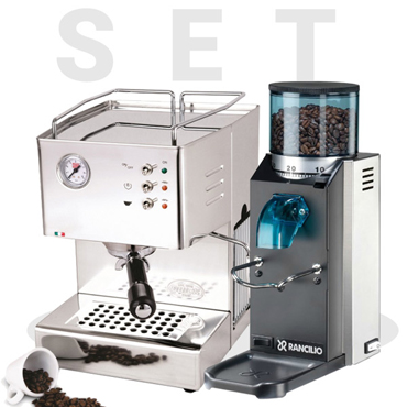 Set Quick Mill Orione 03000 and Rancilio Rocky SD