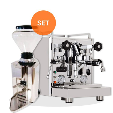 PROFITEC FILTER HOLDER ESPRESSO MACHINE PRO 700 and Quickmill COFFEE GRINDER AUTOMATIC PROFESSIONAL MOD090M