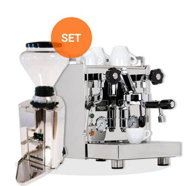 PROFITEC FILTER HOLDER ESPRESSO MACHINE PRO500 and Quickmill COFFEE GRINDER AUTOMATIC PROFESSIONAL MOD090M