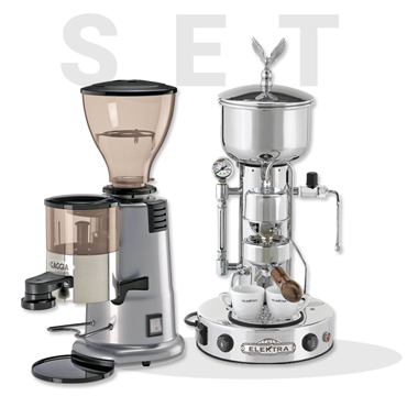 Elektra Semiautomatica SXC Chrome AND GAGGIA MD58 Coffee Grinder