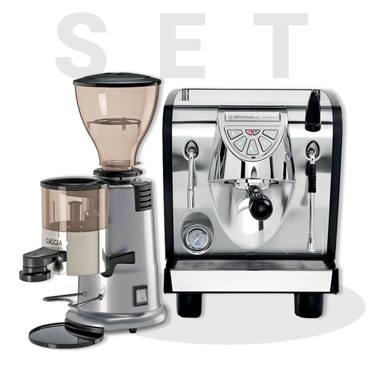 Nuova Simonelli Musica Black and GAGGIA MD58